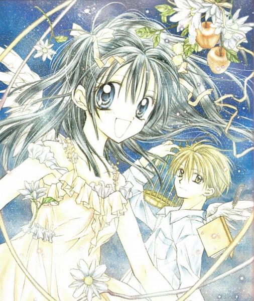 Tags: Anime, Tanemura Arina, Full Moon wo Sagashite, Koyama Mitsuki, Sakurai Eichi, Daisy (Flower), Self Scanned
