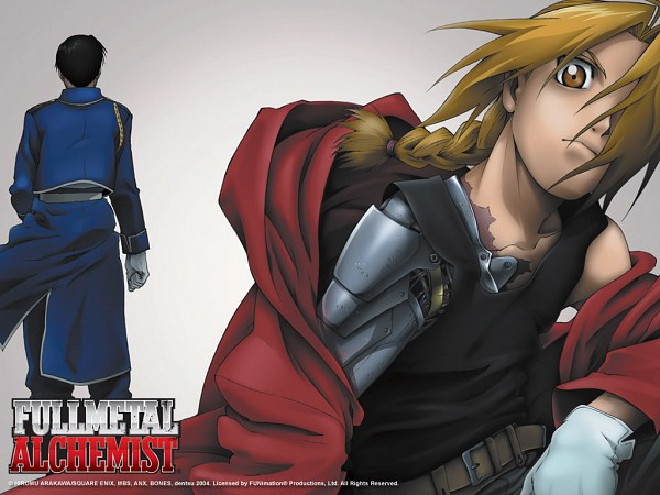 Tags: Anime, Fullmetal Alchemist, Edward Elric, Roy Mustang, Scan, DVD (Source), Official Art