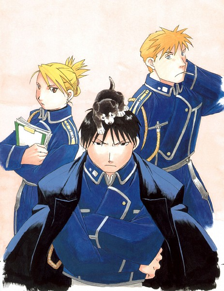Tags: Anime, Fullmetal Alchemist, Riza Hawkeye, Jean Havoc, Roy Mustang