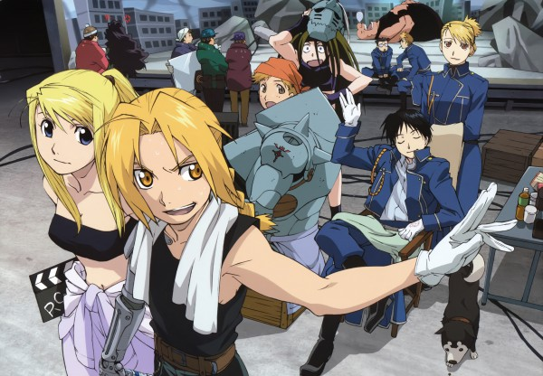 Tags: Anime, SQUARE ENIX, Fullmetal Alchemist, Gluttony (FMA), Jean Havoc, Winry Rockbell, Envy (FMA), Alphonse Elric, Black Hayate, Roy Mustang, Lust (FMA), Edward Elric, Kain Fuery