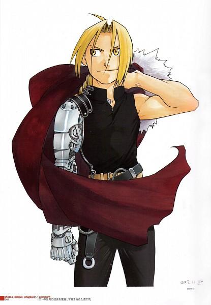 Tags: Anime, Arakawa Hiromu, Fullmetal Alchemist, Edward Elric, Mobile Wallpaper, Official Art