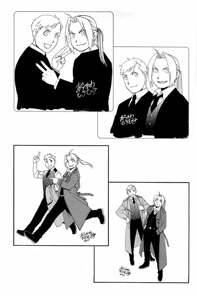 Tags: Anime, Arakawa Hiromu, Fullmetal Alchemist, Edward Elric, Alphonse Elric, Mobile Wallpaper