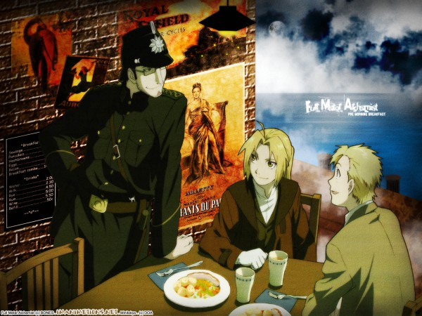 Tags: Anime, SQUARE ENIX, Fullmetal Alchemist, Alphonse Elric, Edward Elric, Wallpaper, Conqueror Of Shamballa, Elric Brothers