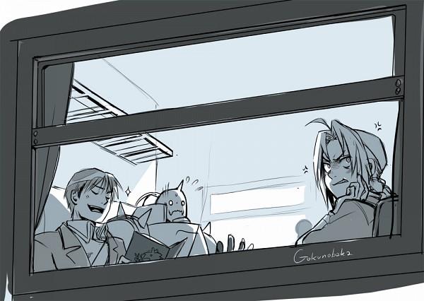 Tags: Anime, Goku-no-baka, Alphonse Elric, Roy Mustang, Edward Elric