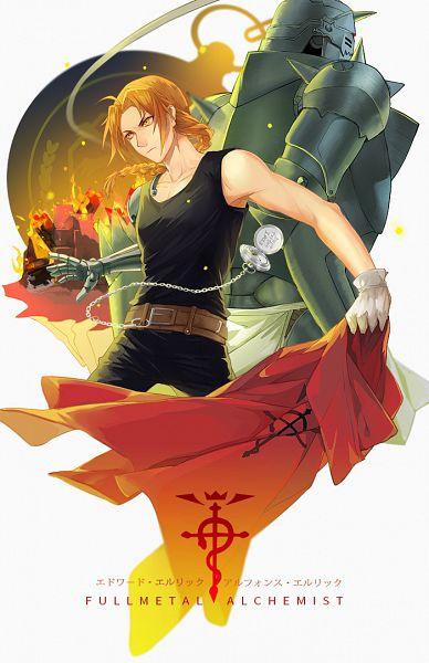 Tags: Anime, EcsRin, Fullmetal Alchemist, Alphonse Elric, Edward Elric, Fanart, Mobile Wallpaper, Pixiv, Fanart From Pixiv, PNG Conversion, Elric Brothers