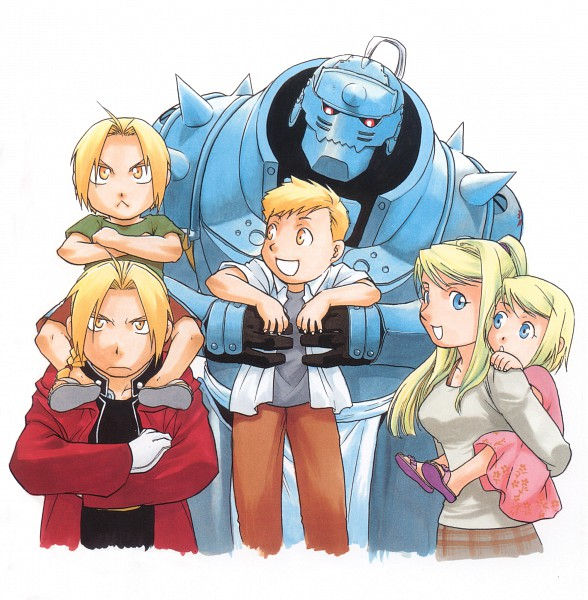 Tags: Anime, Arakawa Hiromu, SQUARE ENIX, Fullmetal Alchemist, Fullmetal Alchemist Art Book Vol. 2, Winry Rockbell, Alphonse Elric, Edward Elric, Scan, Official Art
