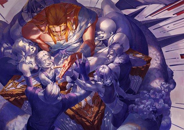 Tags: Anime, C P .Ieng, Fullmetal Alchemist Brotherhood, Fullmetal Alchemist, Gluttony (FMA), Sloth (FMA), Envy (FMA), Selim Bradley, Pride (FMA), Van Hohenheim, Greed (FMA), Lust (FMA), Father (FMA)