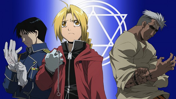 Tags: Anime, SQUARE ENIX, Fullmetal Alchemist, Scar (FMA), Roy Mustang, Edward Elric, HD Wallpaper, Wallpaper