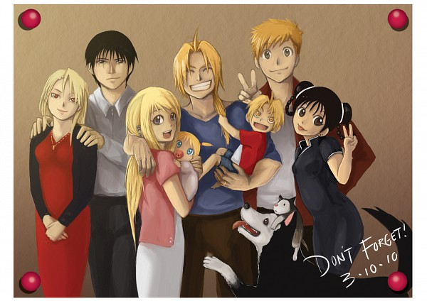 Tags: Anime, SQUARE ENIX, Fullmetal Alchemist, Roy Mustang, May Chang, Edward Elric, Black Hayate, Winry Rockbell, Riza Hawkeye, Alphonse Elric, Den (FMA), Fanart