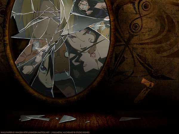 Tags: Anime, SQUARE ENIX, Fullmetal Alchemist Brotherhood, Fullmetal Alchemist, Envy (FMA), Wrath (Fma 2003), Pride (FMA), Lust (FMA), Sloth (Fma 2003), Greed (FMA), Edward Elric, Gluttony (FMA), Broken Glass