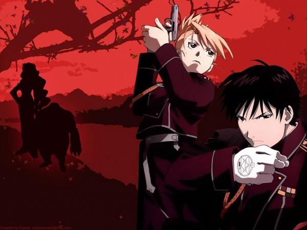 Tags: Anime, Fullmetal Alchemist, Riza Hawkeye, Roy Mustang, Wallpaper