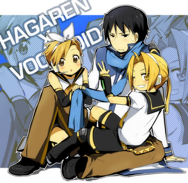 Tags: Anime, KL, Fullmetal Alchemist, Alphonse Elric, Roy Mustang, Edward Elric, KAITO (Cosplay), Kagamine Rin (Cosplay), Kagamine Len (Cosplay), Pixiv, Fanart