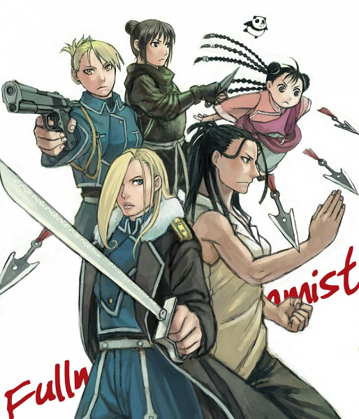 Tags: Anime, Mukuo, Fullmetal Alchemist Brotherhood, Fullmetal Alchemist, Izumi Curtis, Lan Fan, Olivier Mira Armstrong, Riza Hawkeye, May Chang, Xiao Mei, Soldier, Combattantes, Xing Country