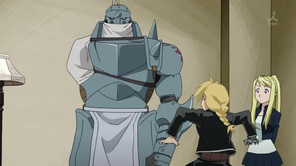 Tags: Anime, Fullmetal Alchemist Brotherhood, Fullmetal Alchemist, Winry Rockbell, Alphonse Elric, Edward Elric, Screenshot