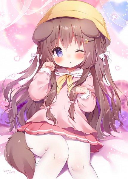 Tags: Anime, Koma Momozu, Azur Lane, Fumizuki (Azur Lane), Yellow Headwear, Pixiv, Fanart, Mobile Wallpaper, Fanart From Pixiv