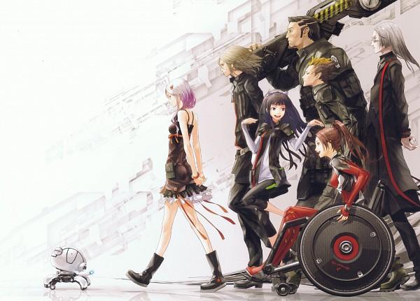 Tags: Anime, redjuice, GUILTY CROWN, GUILTY CROWN Visual Collection, Oogumo, Tsutsugami Gai, Arugo, Tsugumi (GUILTY CROWN), Shinomiya Ayase, Shibungi, Yuzuriha Inori, Fyu-neru, Scan