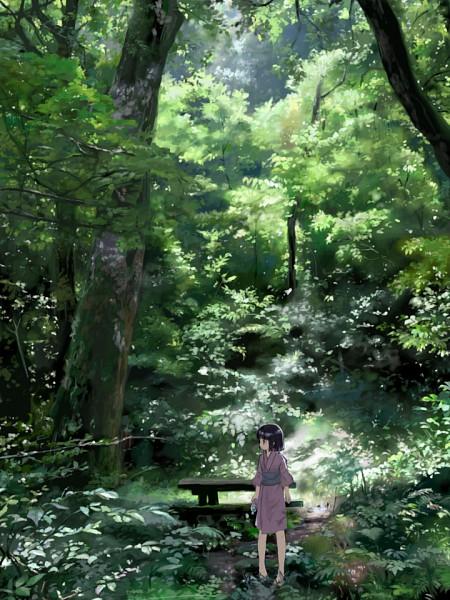 Tags: Anime, Furu, Picnic Table, Water Bottle, Pixiv