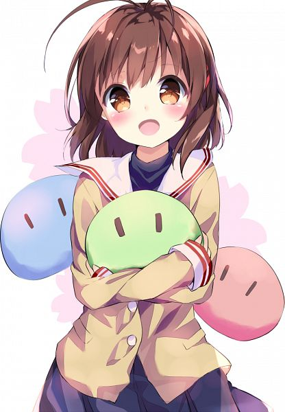 Tags: Anime, Pixiv Id 5991282, CLANNAD, Furukawa Nagisa, Dango (CLANNAD), PNG Conversion, Mobile Wallpaper