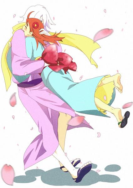 Tags: Anime, Pixiv Id 2788017, Fuse: Teppou Musume no Torimonocho, Hamaji (Fuse), Shino (Fuse), Footwear Off, Pounce, Peony, Pixiv, Fanart, Fanart From Pixiv