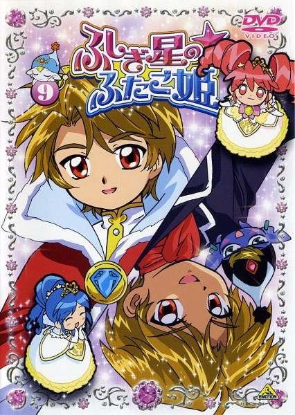 Tags: Anime, Fushigiboshi no☆Futagohime, Poomo, Bright (Futagohime), Fine, Buumo, Rein, Official Art, Scan, DVD (Source)