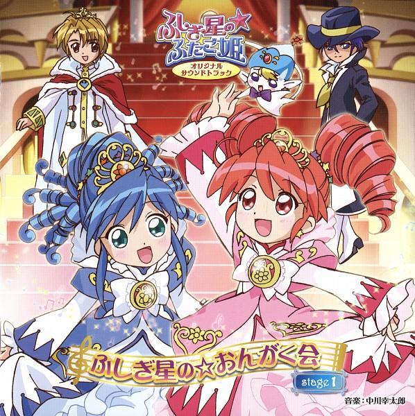 Tags: Anime, Fushigiboshi no☆Futagohime, Shade (Futagohime), Bright (Futagohime), Fine, Poomo, Rein, Gown, CD (Source), Official Art