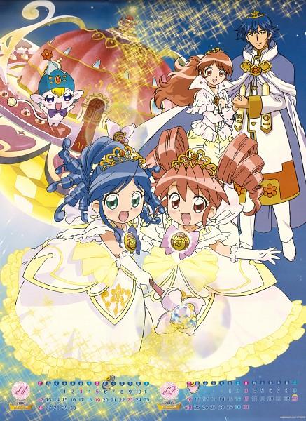 Tags: Anime, Fushigiboshi no☆Futagohime, Rein, Toulouse, Elsa (Futagohime), Poomo, Fine, Official Art, Calendar (Source), Calendar 2006