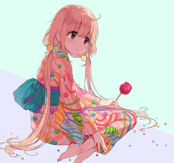 Tags: Anime, Pixiv Id 13921716, THE iDOLM@STER: Cinderella Girls, Futaba Anzu, Candy Apple, Fanart, Fanart From Pixiv, PNG Conversion, Pixiv