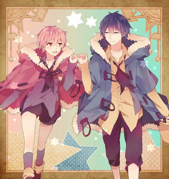 Tags: Anime, Spazzytoaster, Lon, Soraru, Pinky Promise, Pixiv, PNG Conversion, Fanart, Futari Boshi, Requested Upload, Nico Nico Singer, Fanart From Pixiv, Our Two Stars