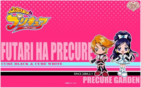 Tags: Anime, Toei Animation, Futari wa Precure, Cure White, Misumi Nagisa, Yukishiro Honoka, Cure Black, Wallpaper