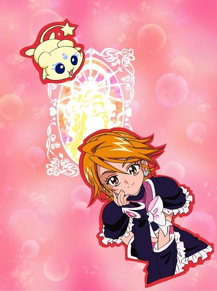 Tags: Anime, Futari wa Precure, Misumi Nagisa, Cure Black, Mepple, Scan, Official Art