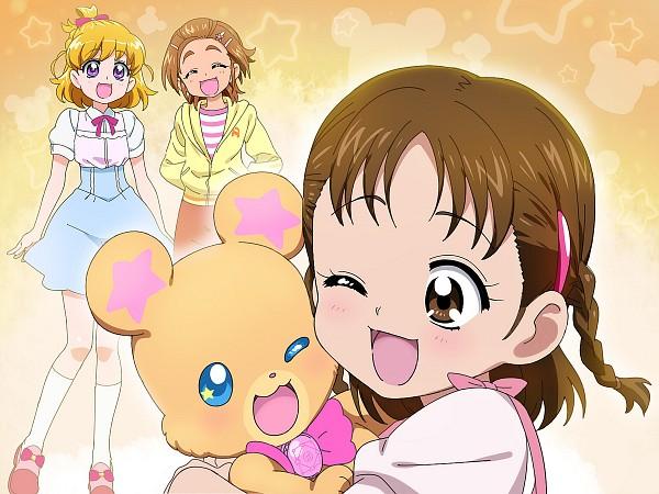 Tags: Anime, Ootori Kei, Mahou Tsukai Precure!, Futari wa Precure Splash Star, Precure All Stars, Hyuuga Saki, Mofurun, Asahina Mirai, Hyuuga Minori, Pixiv, Fanart From Pixiv, Wallpaper, Fanart