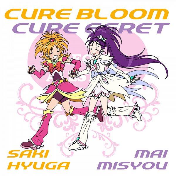 Tags: Anime, Eunos, Futari wa Precure Splash Star, Hyuuga Saki, Mishou Mai, Cure Bloom, Cure Egret, Pixiv, Fanart, Fanart From Pixiv