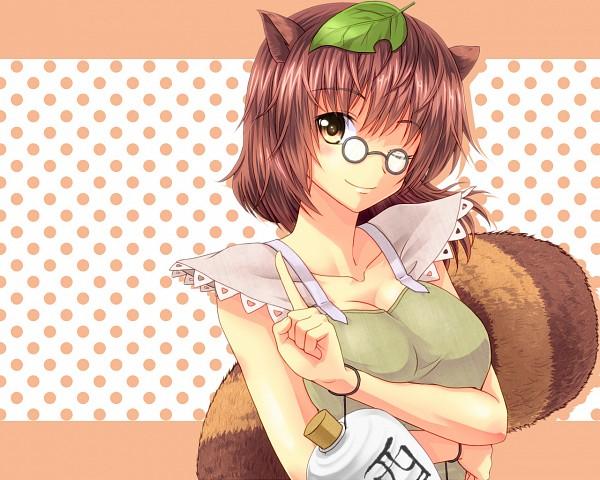 Tags: Anime, Pixiv Id 42851, Touhou, Futatsuiwa Mamizou, Leaf On Head, Object On Head, Wallpaper, Fanart, Fanart From Pixiv, Pixiv, Mamizou Futatsuiwa