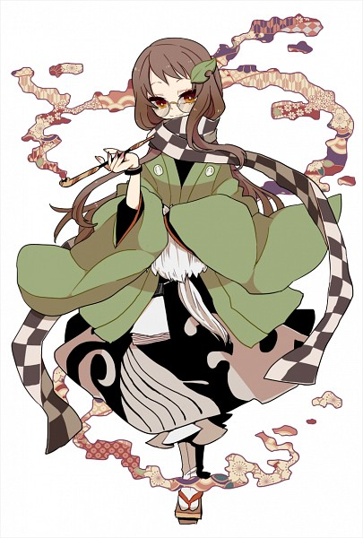 Tags: Anime, Masaki (Ngayope), Touhou, Futatsuiwa Mamizou, Object On Head, Leaf On Head, Fanart, Fanart From Pixiv, Pixiv, Mamizou Futatsuiwa