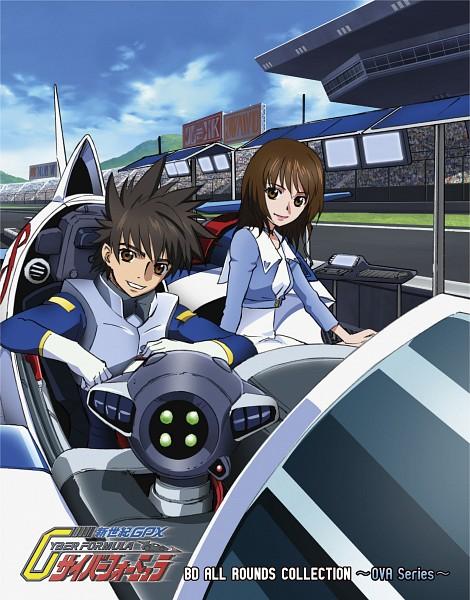 Tags: Anime, Sunrise (Studio), Future GPX Cyber Formula, Kazami Hayato, Sugou Asuka, Official Art, New Century Grand Prix Cyber Formula