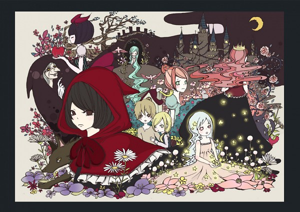 Tags: Anime, Fuyumi Itsuru, Cinderella, Snow White and the Seven Dwarfs, Rapunzel, Hansel and Gretel, Red Riding Hood, Gretel, Hansel, Sleeping Beauty (Character), Cinderella (Character), Snow White, Rapunzel (Character)
