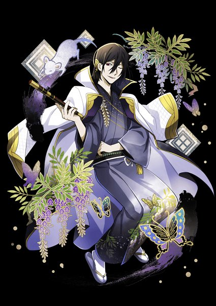 Tags: Anime, Ambition, Bungou Stray Dogs, Bungou Stray Dogs: Mayoi Inu Kaikitan, Fyodor Dostoyevsky, Square, Wisteria, Flute, Wooden Sandals, Official Card Illustration, Official Art