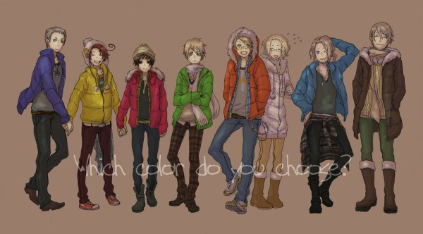 Tags: Anime, Pixiv Id 389736, Axis Powers: Hetalia, France, United States, Japan, Germany, North Italy, Canada, Russia, United Kingdom, Pixiv, Facebook Cover