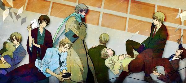 Tags: Anime, Pixiv Id 130066, Axis Powers: Hetalia, France, United States, Japan, Germany, Kumajirou, North Italy, Canada, Russia, United Kingdom, PlayStation 3