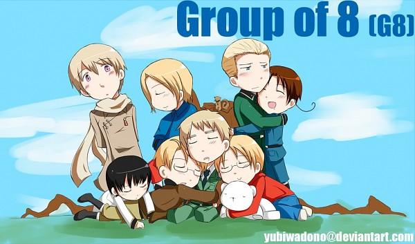 Tags: Anime, Yubiwadono, Axis Powers: Hetalia, Canada, Russia, United Kingdom, France, United States, Japan, Germany, North Italy, deviantART, Fanart