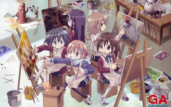 Tags: Anime, GA: Geijutsuka Art Design Class, Nozaki Namiko, Oomichi Miyabi, Noda Miki, Tomokane, Yamaguchi Kisaragi, 2560x1600 Wallpaper, Official Art, Wallpaper, Official Wallpaper, HD Wallpaper