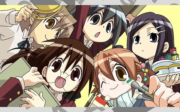 Tags: Anime, GA: Geijutsuka Art Design Class, Oomichi Miyabi, Noda Miki, Yamaguchi Kisaragi, Nozaki Namiko, Tomokane, Wallpaper, Official Art