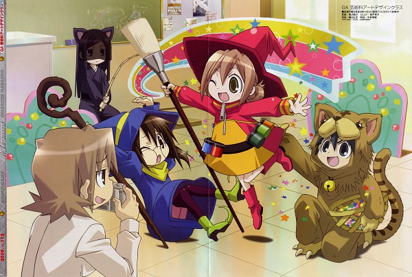 Tags: Anime, Watanabe Atsuko, GA: Geijutsuka Art Design Class, Megami #112 2009-09, Oomichi Miyabi, Noda Miki, Tomokane, Yamaguchi Kisaragi, Nozaki Namiko, Official Art, Scan, Magazine (Source)