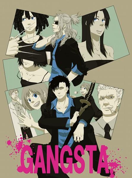 Tags: Anime, GANGSTA., Dr. Theo, Nicholas Brown, Doug (GANGSTA.), Worick Arcangelo, Chad Adkins, Alex Benedetto, Cody Balfour, Nina (Gangsta.), Fanart, Artist Request