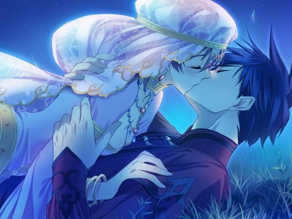 Tags: Anime, CARNELIAN, GARNET CRADLE, Teshigawara Touya, Amawashi Miku, Surprise Kiss, CG Art