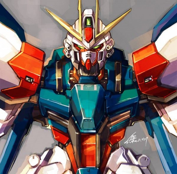 Tags: Anime, Pixiv Id 129654, Gundam Build Fighters, GAT-X105B/FP Build Strike Gundam Full Package, Fanart, Fanart From Pixiv, Pixiv