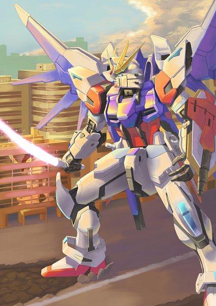 Tags: Anime, Pixiv Id 9553536, Gundam Build Fighters, GAT-X105B/FP Build Strike Gundam Full Package, Fanart, Fanart From Pixiv, Pixiv, Gundams