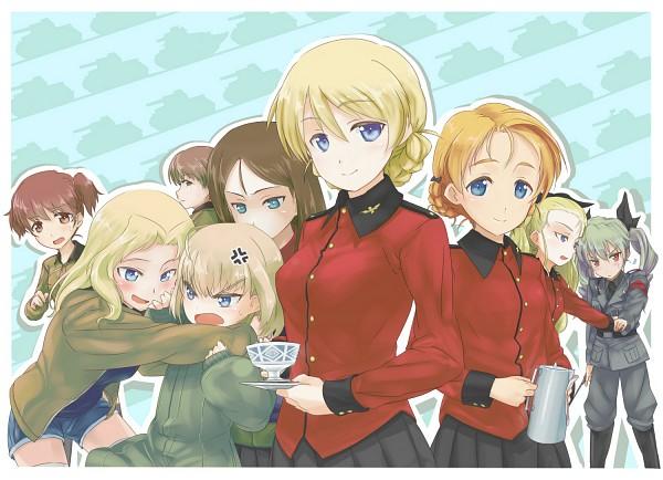 Tags: Anime, Hinotsuki, GIRLS und PANZER, Naomi (GIRLS und PANZER), Orange Pekoe, Assam (GIRLS und PANZER), Arisa (GIRLS und PANZER), Katyusha (GIRLS und PANZER), Anzai Chiyomi, Darjeeling (GIRLS und PANZER), Nonna (GIRLS und PANZER), Kay (GIRLS und PANZER), Pixiv