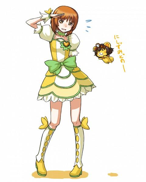 Tags: Anime, Pixiv Id 4100623, GIRLS und PANZER, Akiyama Yukari, Nishizumi Miho, Lance (Dokidoki) (Cosplay), One Arm Behind Back, Cure Rosetta (Cosplay), Pixiv, Fanart, Fanart From Pixiv