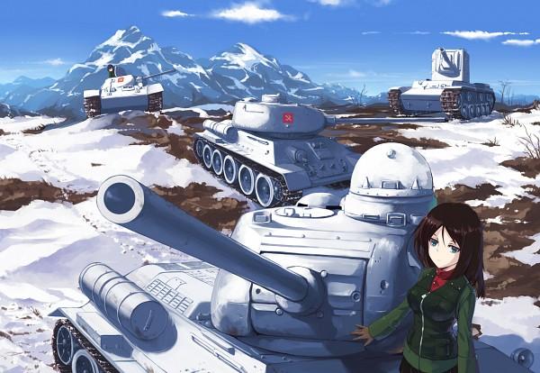 Tags: Anime, Nightmaremk2, GIRLS und PANZER, Nonna (GIRLS und PANZER), Tank
